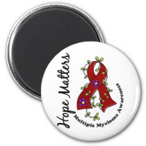 Flower Ribbon 4 Hope Matters Multiple Myeloma Magnet