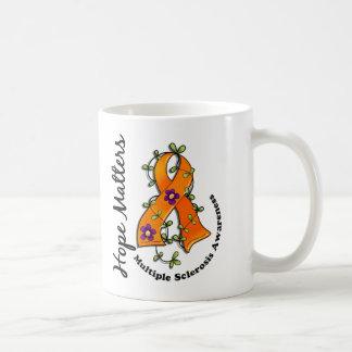 Flower Ribbon 4 Hope Matters Multiple Sclerosis Coffee Mug