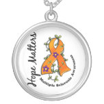 Flower Ribbon 4 Hope Matters Multiple Sclerosis Necklace