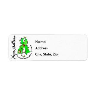 Flower Ribbon 4 Hope Matters Non-Hodgkin s Lymphom Custom Return Address Label