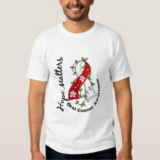 Flower Ribbon 4 Hope Matters Oral Cancer T-shirt