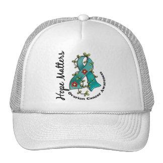Flower Ribbon 4 Hope Matters Ovarian Cancer Trucker Hat