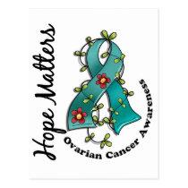 Flower Ribbon 4 Hope Matters Ovarian Cancer Postcard