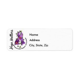 Flower Ribbon 4 Hope Matters Pancreatic Cancer Label