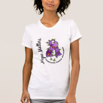 Flower Ribbon 4 Hope Matters Pancreatic Cancer T-Shirt