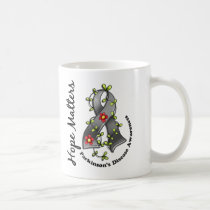 Flower Ribbon 4 Hope Matters Parkinson's Disease Coffee Mug