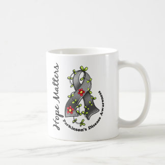 Flower Ribbon 4 Hope Matters Parkinson's Disease Coffee Mug