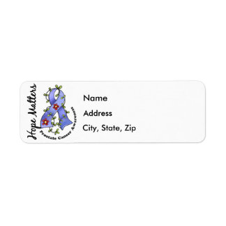 Flower Ribbon 4 Hope Matters Prostate Cancer Label