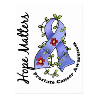 Flower Ribbon 4 Hope Matters Prostate Cancer Postcard
