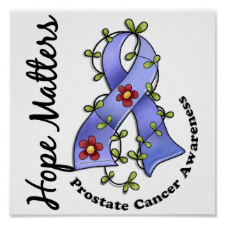 Flower Ribbon 4 Hope Matters Prostate Cancer Print