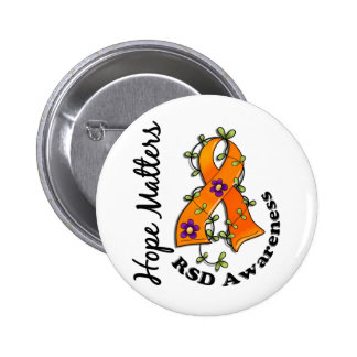 Flower Ribbon 4 Hope Matters RSD Pinback Buttons