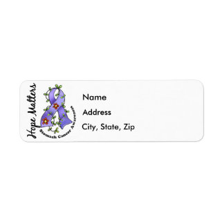 Flower Ribbon 4 Hope Matters Stomach Cancer Label