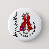 Flower Ribbon 4 Hope Matters Stroke Button