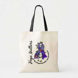 Flower Ribbon 4 Hope Matters Syringomyelia Tote Bag