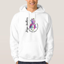 Flower Ribbon 4 Hope Matters Thyroid Cancer Hoodie