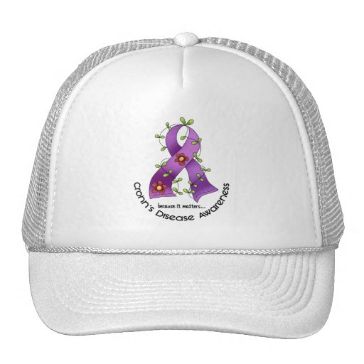 Flower Ribbon CROHN'S DISEASE AWARENESS T-Shirts Trucker Hat