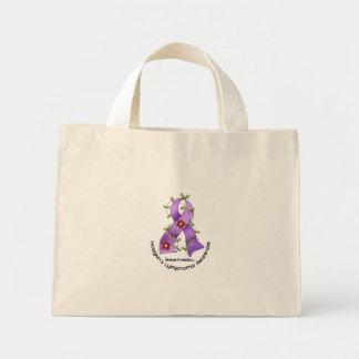 Flower Ribbon HODGKIN'S LYMPHOMA AWARENESS Shirts Mini Tote Bag
