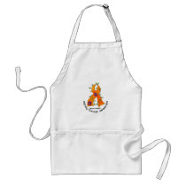 Flower Ribbon KIDNEY CANCER (with Orange Ribbon) Adult Apron