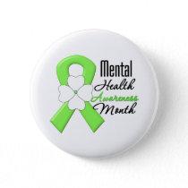 Flower Ribbon - Mental Health Awareness Month Button