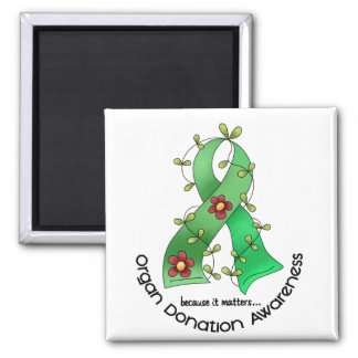 Flower Ribbon ORGAN DONATION AWARENESS Apparel Refrigerator Magnet