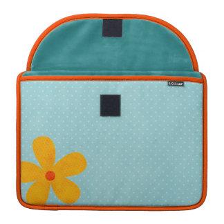Flower Rickshaw Flap Sleeve MacBook Pro Sleeves