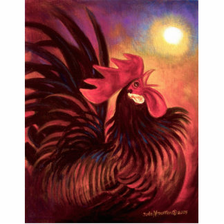 Flower Rooster Painting art - Multi Cutout
