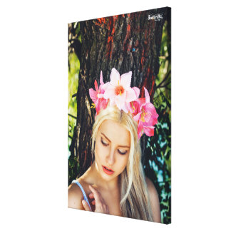 Flower Rose Girl Canvas Print
