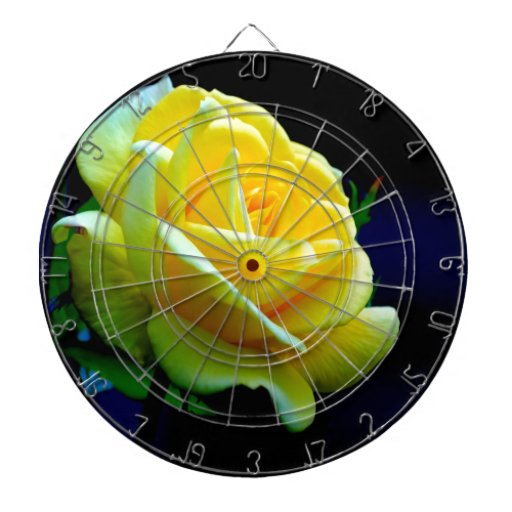 flower rose open to love dartboard with darts