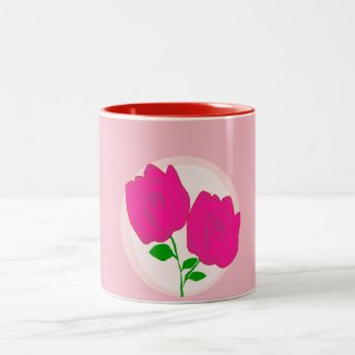 Flower Rose Two-Tone Coffee Mug
