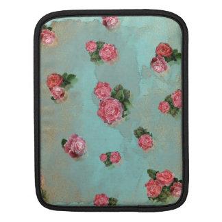 Flower Roses floral blue pink nostalic Sleeve For iPads