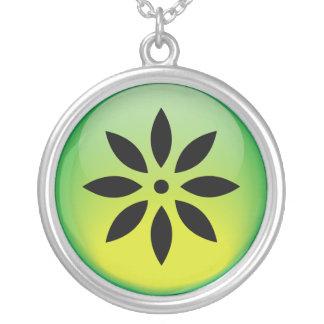 Flower Round Pendant Necklace