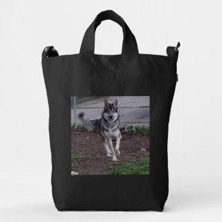 Flower Running Wolf Duck Bag