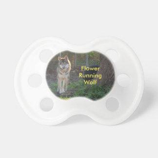 Flower Running Wolf pacifier