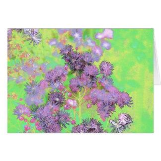 Flower Scapes Mauve Bouquet Card