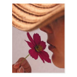 Flower scent postcards