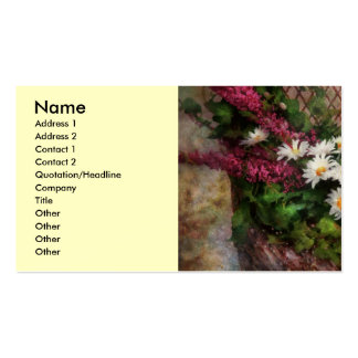 Flower - Seat Reserved Double-Sided Standard Business Cards (Pack Of 100)