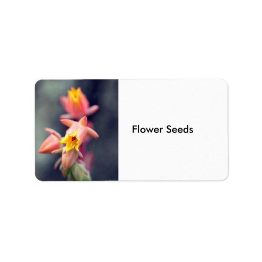 Flower Seeds Label