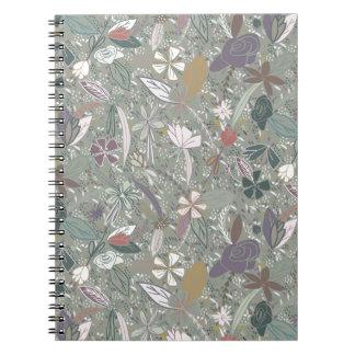 Flower seeds Morning mist Notebook