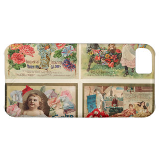 Flower Seeds Vintage Collage Cover For iPhone 5C