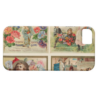Flower Seeds Vintage Collage iPhone 5 Cases