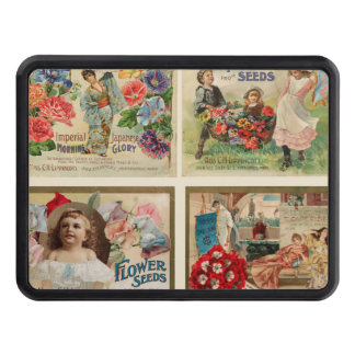 Flower Seeds Vintage Collage Hitch Covers