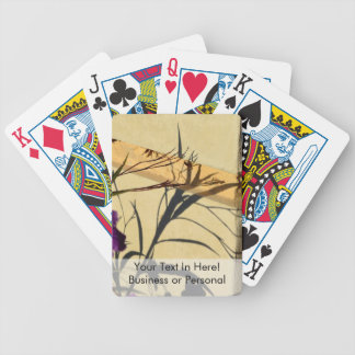 flower shadow on post purple mexican petunia bicycle playing cards