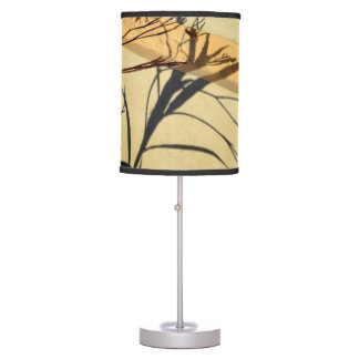 flower shadow on post purple mexican petunia desk lamp