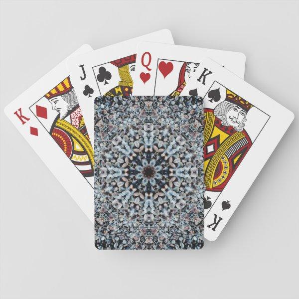 Flower-Shaped Pebbles Mandala Playing Cards