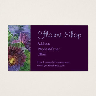 FLOWER SHOP by SHARON SHARPE Business Card