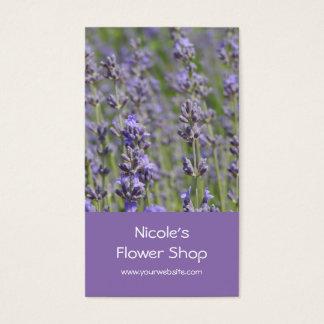 Flower Shop - Lavender fields Business Card