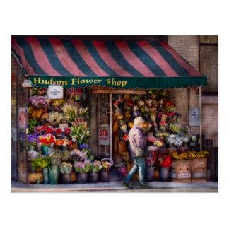 Flower Shop - NY - Chelsea - Hudson Flower Shop Postcard