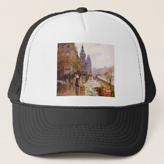 Flower shop of the Seine river paralleling Trucker Hat