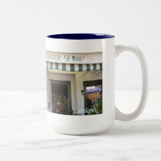 """Flower Shop """"Painting"""" Two-Tone Coffee Mug"""