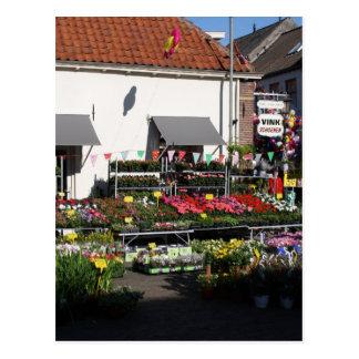 Flower shop postcard